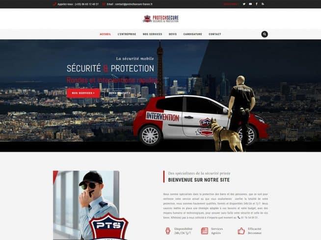 Site web sécurité privée