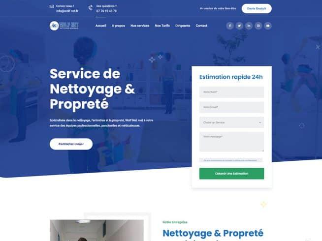 Site web nettoyage